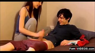 Step sister caught her brother Amateur Taboo