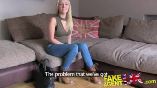 Cute Scotch Blonde gets deep pussy sex FakeAgentUK