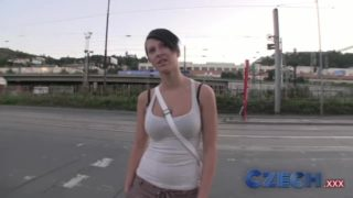 Hot Czech girl fucked from behind for cash
