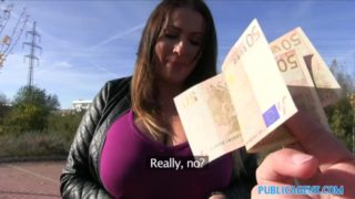 BBW Hungarian girl fucked for money Public Agent