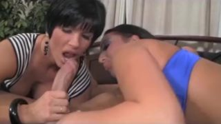 Stepmom and Daughter sucking cock Incezt