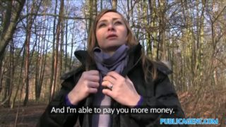 Sexy Czech Girl has sex in forest for cash Public Agent Porn