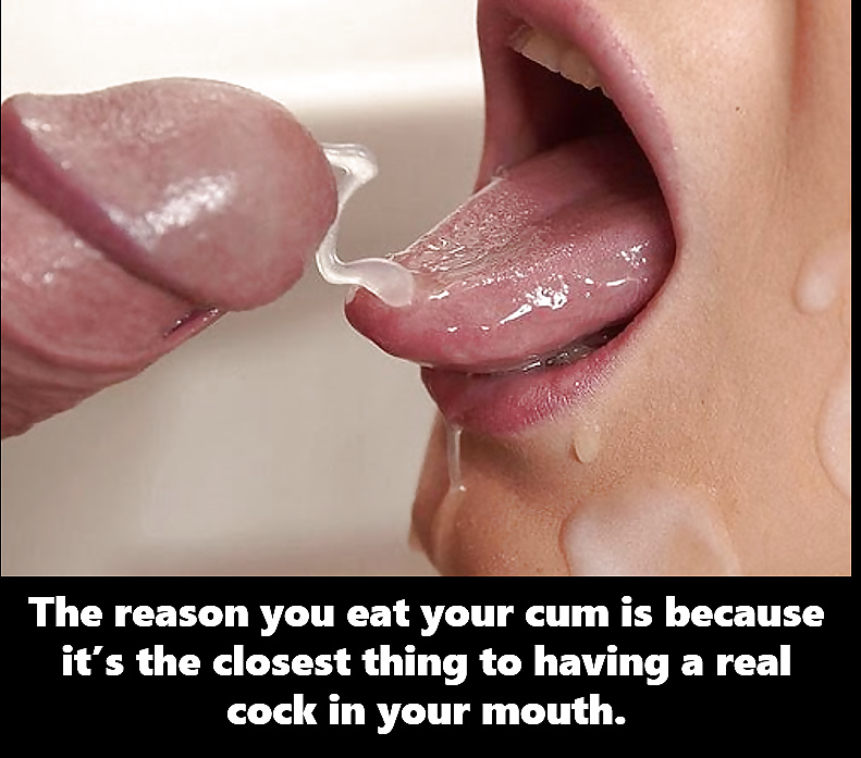Made to eat your cum for peeping on your neighbor cei