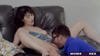 Son making practise with mother before fuck sister