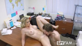 Step son office anal fuck with step mom Cory Chase at work