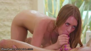 Teen Massages Step Dad's Big Dick & Mom's Home SHH